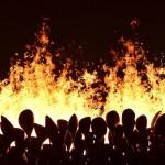 flames olympique allumée le 27juillet