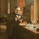 pasteur dans son labo